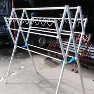 Jemuran Baju 130cm Alumunium Silver Hanger Tokopedia