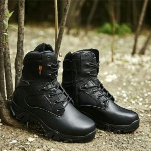 Sepatu Delta Tactical Outdoor 8 Inc Hitam Sepatu Gunung Hiking Army Tokopedia