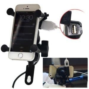 Bracket Holder Hp Motor Plus Usb Charger X Grip Tokopedia