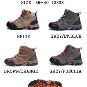 Sepatu Gunung Snta 609 Series Grey Blue Sepatu Wanita Outdoor Camping Tokopedia