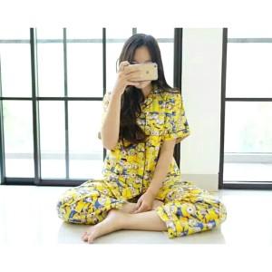 Set Piyama Wanita Pajamas Baju Tidur Im Doraemon Pp Tokopedia