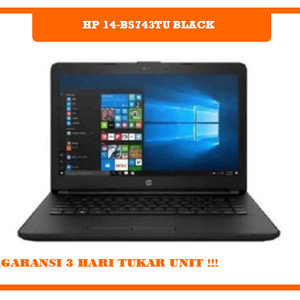 Hp 14 Bs743tu Black Tokopedia
