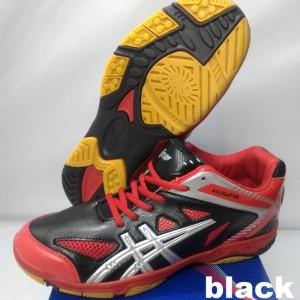Sepatu Badminton Bulutangkis Professional Alligator Black Red Silver Tokopedia