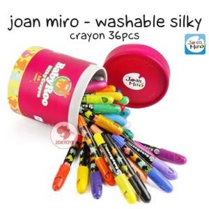 Zoetoys Joan Miro - Washable silky Crayon 36pcs | mainan edukasi