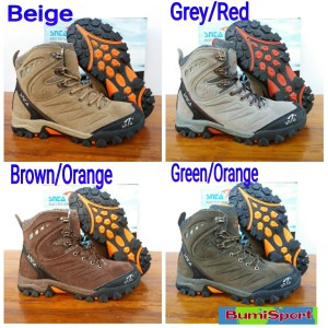Sepatu Gunung Outdoor Snta 477 Adventure Series Beige Brown Tokopedia