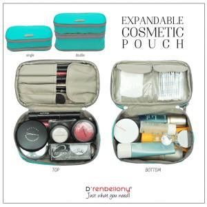 Expandable Cosmetics Pouch Organizer Ecp Drenbellony Tas Kosmetik Tokopedia
