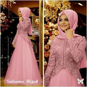 Gamis Baju Wanita Muslim Salema Syari Tokopedia