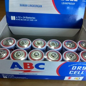 Baterai ABC Tanggung/Tipe C (12 pcs)