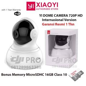 Xiaomi Xiao Yi Dome Hd Ip Camera Kamera Cctv Ir Dome 360 Degrees Original Resmi Tokopedia