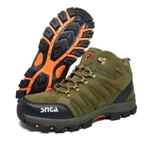 Sepatu Gunung Snta Type 491 Warna Green Yellow Sepatu Hiking Pria Tokopedia