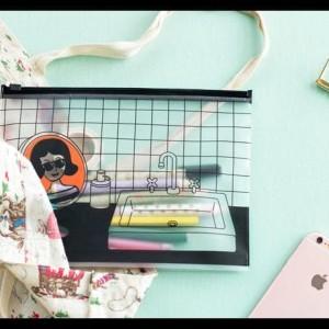 Sale Kantong Zipper Bening Kosmetik N Girl Tokopedia