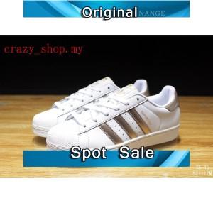 Jual Sepatu Sneakers Desain Adidas Superstar Warna Putih untuk Unisex 100 64dbabd2b0