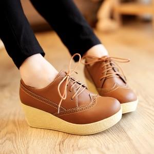 Sepatu Platform Wedges Wanita Sdw75 Tokopedia