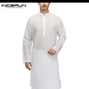 baju koko india kemeja kurta muslim pria / qurta kaftan robe men
