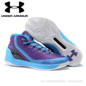 Jual sepatu basket under armour curry 3 hitam putih pendek anti licin 6f6bc4cfec
