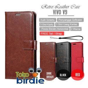 Leather Case Vivo V9 High Quality Flipcase Luxury Wallet Casing Cover