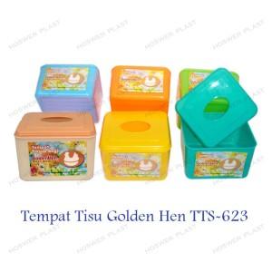 1 Set Tempat Tisu Plastik Kotak Tisu Wadah Tisu Golden Hen Tts 623