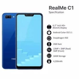 Realme C1 Ram 2gb Internal 16gb Snapdragon 450 Garansi Resmi Tokopedia