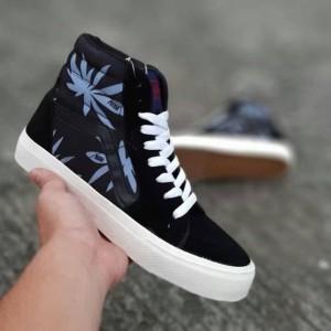 Jual Sepatu Vans Sk8 Rasta Black Off White Sneakers Pria Casual Import 68eb5c44de