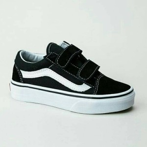 Vans Anak Old Skool Black White Tokopedia