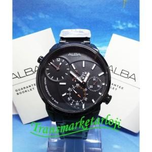 Jual Limited Jam Tangan Pria Alba A2A001X1 Full Black Original Murah Trendi