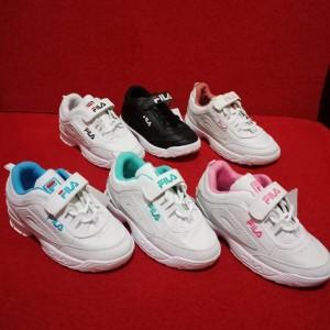 Sepatu Fila Distruptor Kids Anak Sneakers Kets Casual Perempuan Tokopedia