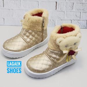 Sepatu Boots Boneka Bulu Untuk Anak Perempuan Tokopedia
