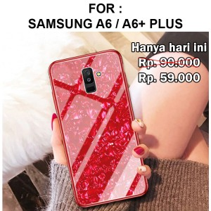 Tempered Shell case Samsung A6 - A6 Plus 2018 casing kaca cover glass