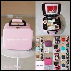 Sale Koper Kosmetik Beauty Case Kosmetik Case Kp 06 3 Partisi Black Tokopedia