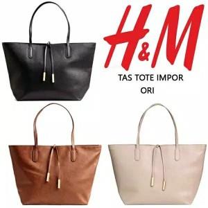 Tas wanita cewek pesta kerja branded import besar HnM HM Tote Bags