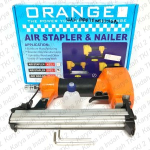Air Stapler Gun ORANGE 1022J Staples Tembak Angin 22mm 1022 J