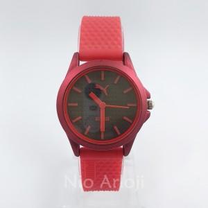 afe351293b62 Jam Tangan Wanita Cewek Sport Puma Tali Karet Rubber Warna Merah