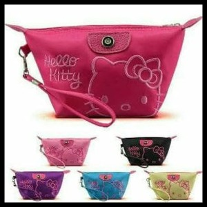 Sale Tas Kosmetik Hello Kitty Hk Kitty Smile Tokopedia