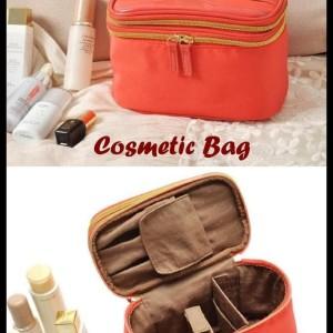 Diskon Cosmetic Bag 2 Tingkat Dalamnya Banyak Sekat Muat Banyak Kosmetik Tokopedia