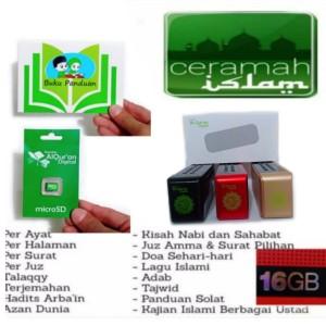 Paket speaker Al-Qur'an digital 30juz lengkap micro sd chip - Rhimoa