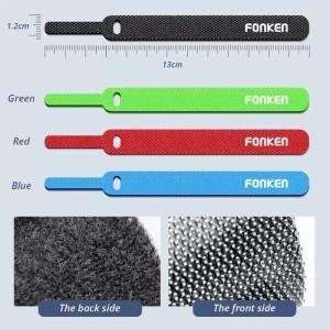 Fonken Velcro strap binder cable 13cm pengikat kabel/penjepit kabel