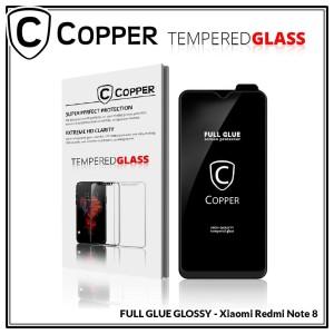 Xiaomi Redmi Note 8 - COPPER Tempered Glass FULL GLUE PREMIUM GLOSSY