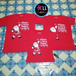 Baju Couple Natal Family Santa Peace Kaos Keluarga Merry Christmas