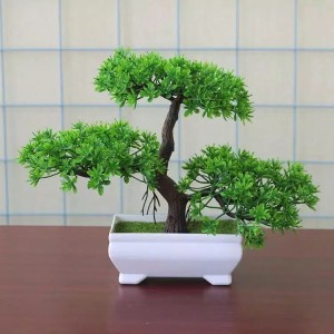 ornamen tanaman hias bonsai beringin / pohon plastik artificial