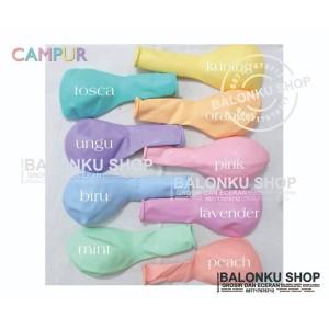 Balon isi 50 Pcs Latex Macaron / Balon Warna Warni / Balon Pastel