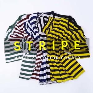 Kaos Stripe / Kaos Salur / Kaos Belang Premium Unisex M - XL