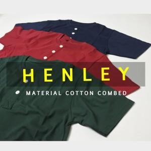 Kaos Henley Pendek/ Kaos Kancing Premium