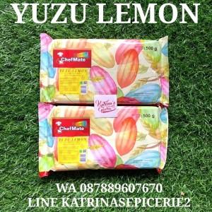 CHEFMATE YUZU LEMON CHOCOLATE COMPOUND 500 GRAM - COKELAT