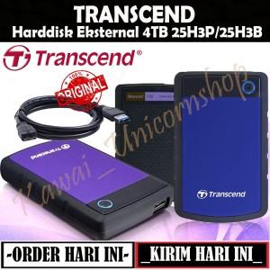 Transcend Storejet 25H3 H3B 4TB HDD / HD / External Harddisk Antishock