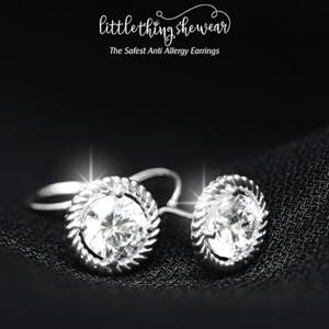 Elise White Gold Earrings