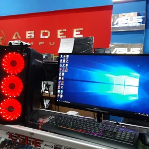 PC GAMING INTEL CORE I7 LED MNITOR 19 IN FREE USB WIFI SIAP PAKAI