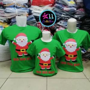 Kaos Natal Couple Keluarga Merry Christmas Baju Family Santa HoHoHo