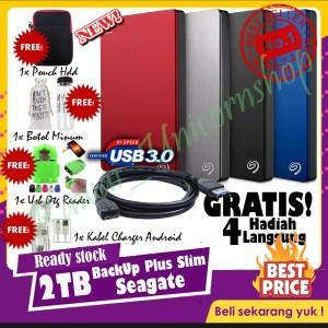 Seagate BackUp Plus Slim 2TB - HDD / HD Hardisk Eksternal Usb 3.0 FREE