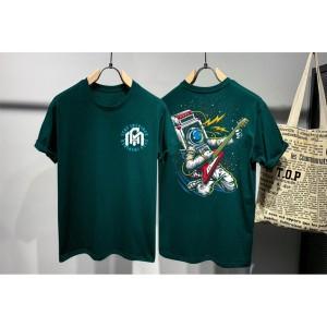 T-shirt Astronaut / Baju Kaos Distro Pria Ast Stay High Hijau Slimfit