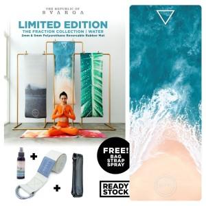 Yoga Mat / Matras Yoga 5mm Ekata Rubber Mat - Limited Edition Water